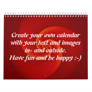 Abstract Background Spirals soft III + your text Calendars