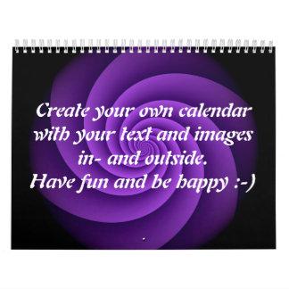 Abstract Background Spirals soft IV + your text Wall Calendar