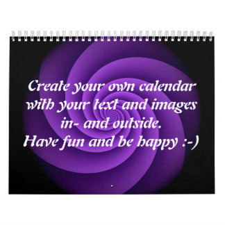Abstract Background Spirals soft IV + your text Calendar