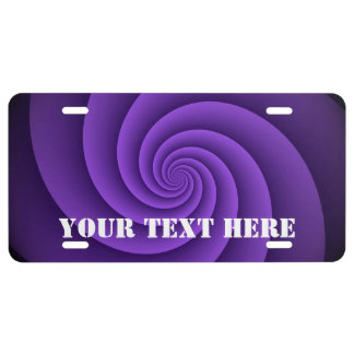 Abstract Background Spirals soft IV + your text License Plate