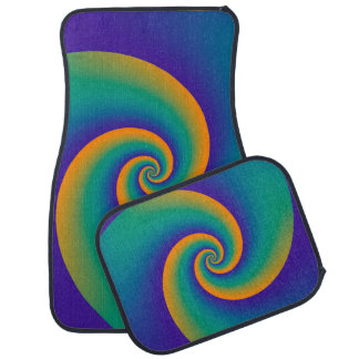 Abstract Background Spirals soft V Floor Mat