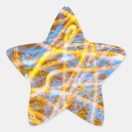 Abstract background star sticker