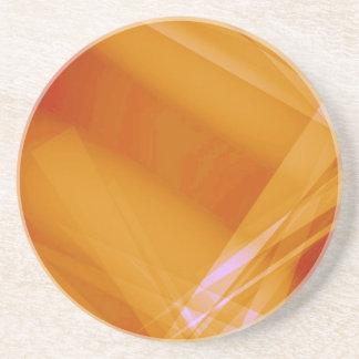 Abstract-Background sunshine ORANGE DIGITAL RANDOM Drink Coaster