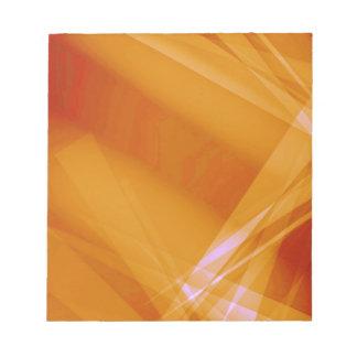 Abstract-Background sunshine ORANGE DIGITAL RANDOM Notepad