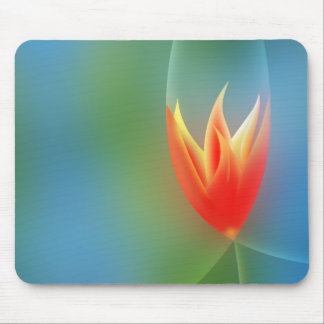 Abstract background tulip mousepad