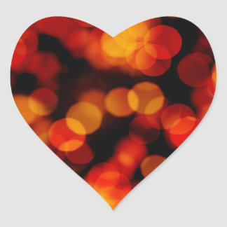 Abstract Background with Blurry Lights Heart Sticker