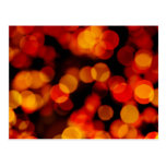 Abstract Background with Blurry Lights Postcard