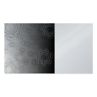 abstract background with flowers in relief business card templates