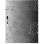 abstract background with flowers in relief dry erase whiteboards