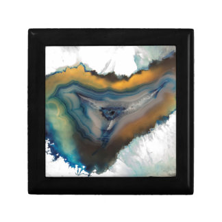abstract background with mineral stones jewelry box