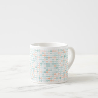Abstract background with mixed small spots espresso cup