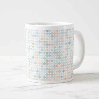 Abstract background with mixed small spots large coffee mug
