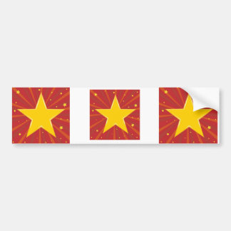 Abstract background with red star bumper sticker
