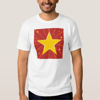 Abstract background with red star T-Shirt