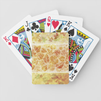 Abstract backgrounds, watercolor, leaves bicycle playing cards