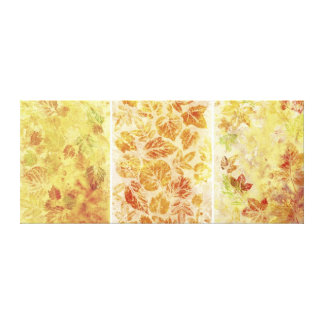 Abstract backgrounds, watercolor, leaves canvas print