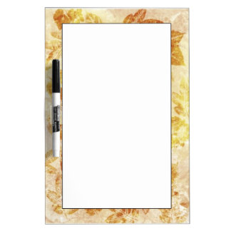 Abstract backgrounds, watercolor, leaves dry erase board