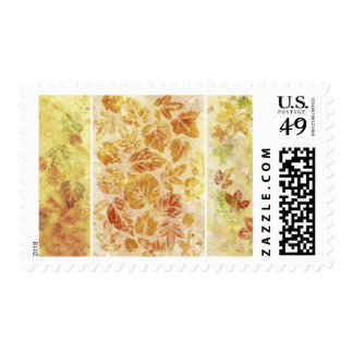 Abstract backgrounds, watercolor, leaves postage