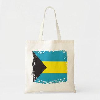 Abstract Bahamas Flag, Bahamian Colors Tote Bag