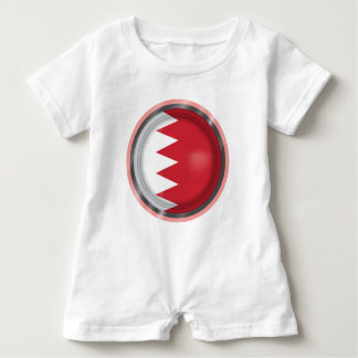 Abstract Bahrain Flag, Bahraini Colors Baby Romper