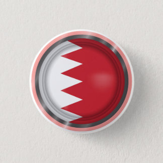 Abstract Bahrain Flag, Bahraini Colors Button