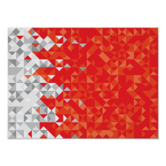 Abstract Bahrain Flag, Bahraini Colors Poster