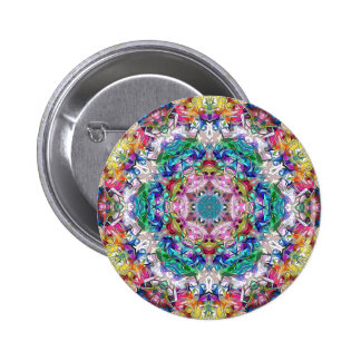 Abstract Balance of Colors Pinback Button