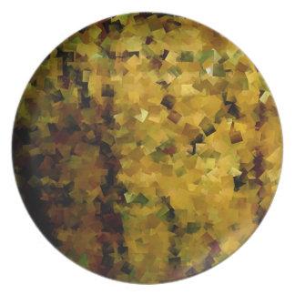 Abstract Bamboo Plate No. 1