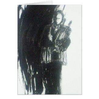 Abstract bar-mitzvah boy card