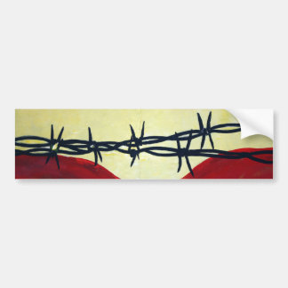 Abstract - barbed wire bumper sticker