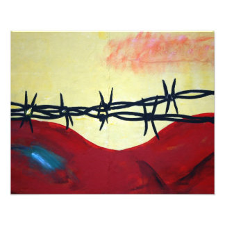 Abstract - barbed wire photo art
