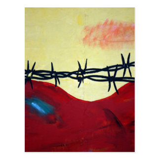 Abstract - barbed wire postcard