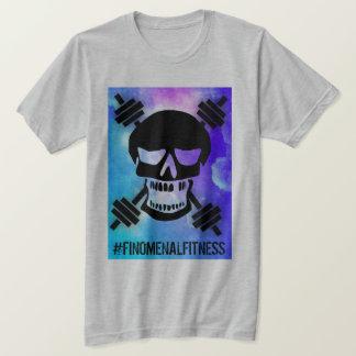 Abstract Barbell Skull T-Shirt