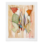 Abstract Barcelonian Couple 16 x 20 Fine Art Print