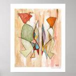 Abstract Barcelonian Couple 16 x 20 Fine Art Print
