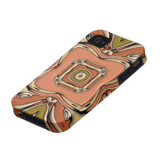 Abstract Bas-relief Kaleidoscope.Nouveau Art Style iPhone 4 Cases