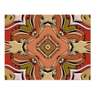 Abstract Bas-relief Kaleidoscope.Nouveau Art Style Post Card