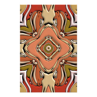 Abstract Bas-relief Kaleidoscope.Nouveau Art Style Stationery