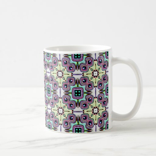 Abstract Bas-relief Kaleidoscope. Vintage Pattern Classic White Coffee Mug