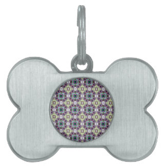 Abstract Bas-relief Kaleidoscope. Vintage Pattern Pet ID Tag