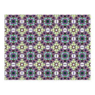 Abstract Bas-relief Kaleidoscope. Vintage Pattern Post Card