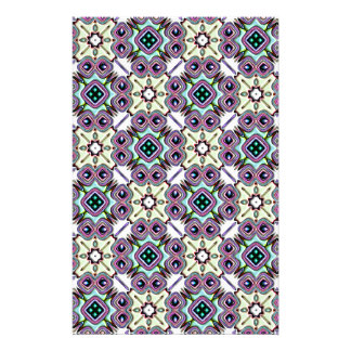 Abstract Bas-relief Kaleidoscope. Vintage Pattern Stationery