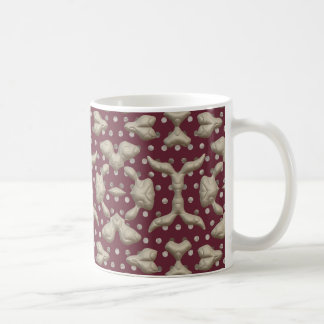 Abstract Bas-relief Sculptures Texture. Stylish Coffee Mugs