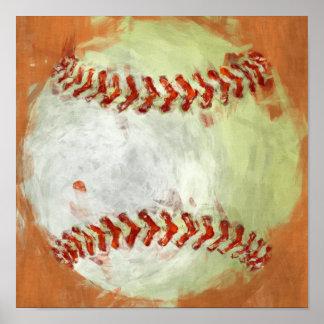 Abstract Baseball Poster