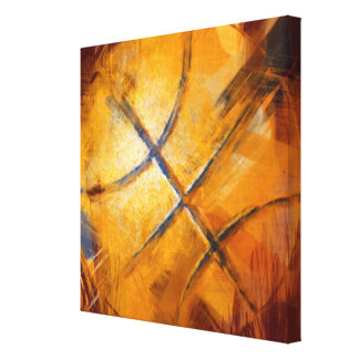 Abstract Basketball Canvas Print