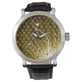 Abstract Basketweave Jungle (gold) Watches