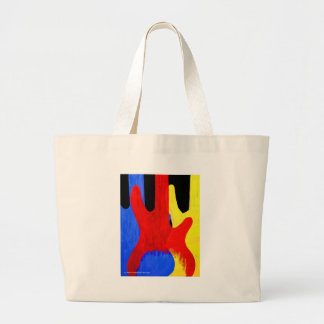 Abstract Bass Guitars in Primary Colors Large Tote Bag