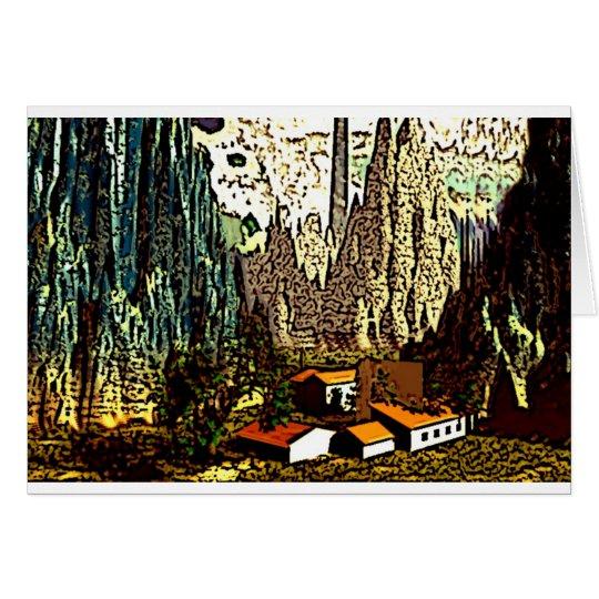 Abstract Bavarian Landscape Card