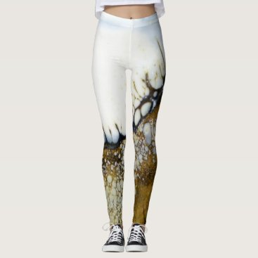Beach Themed Abstract Beach and Shoreline Leggings