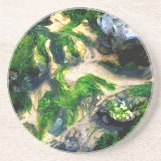 Abstract Beach Digital Painting landscape nature Coasters